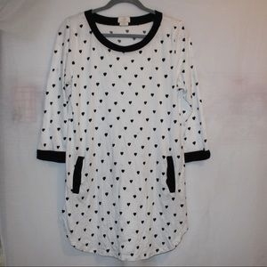 Kate Spade Long Sleeve Pajama Night Gown Hearts